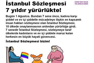 İstanbul Sözleşmesi 7 yıldır yürürlükte!